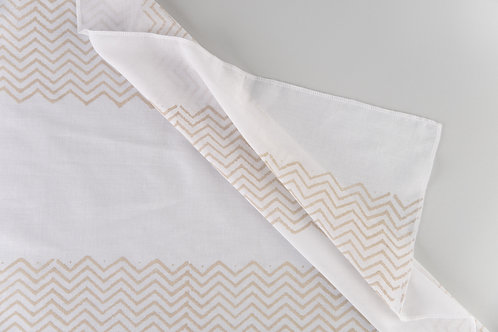 Beige Chevron Stripe Sheers
