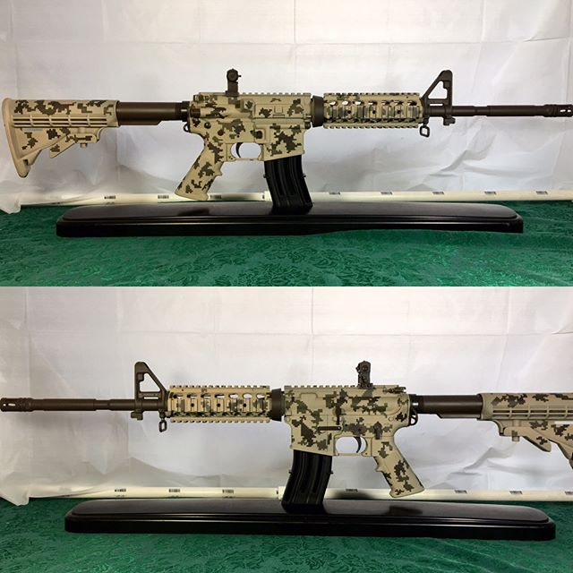 Bushmaster XM-15 in #duracoat Desert Beige, Glk Dark Earth, and Czech Republic Brown