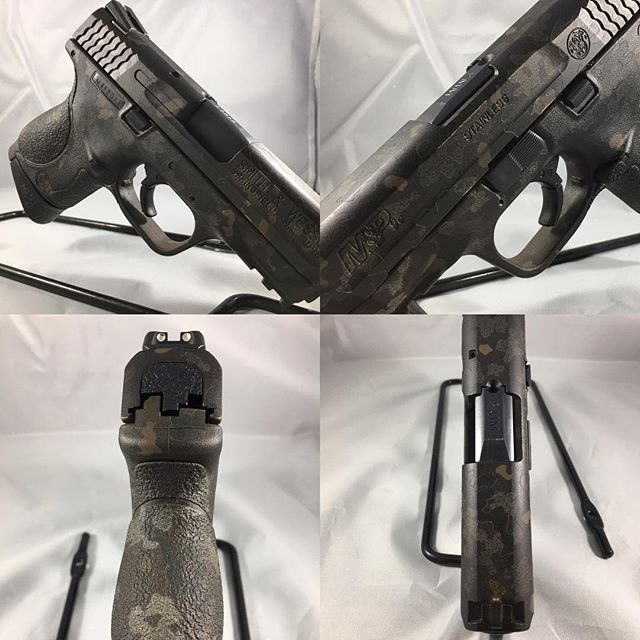 Cerakote blacked out multicam