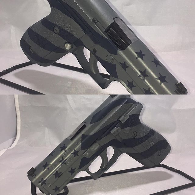 Patriotic Sig 229.jpg #duracoat Dark Blue and Blue Titanium