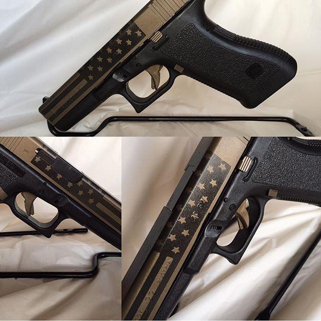 Glock 22 .40 S&W Duracoat Bronze