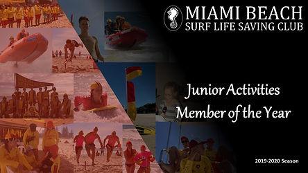 Junior Activities Member of the Year - t