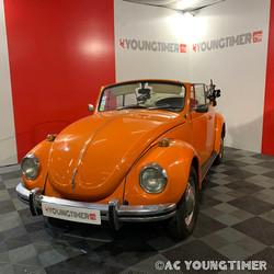 VW Cox cabriolet  profil gauche décapoté