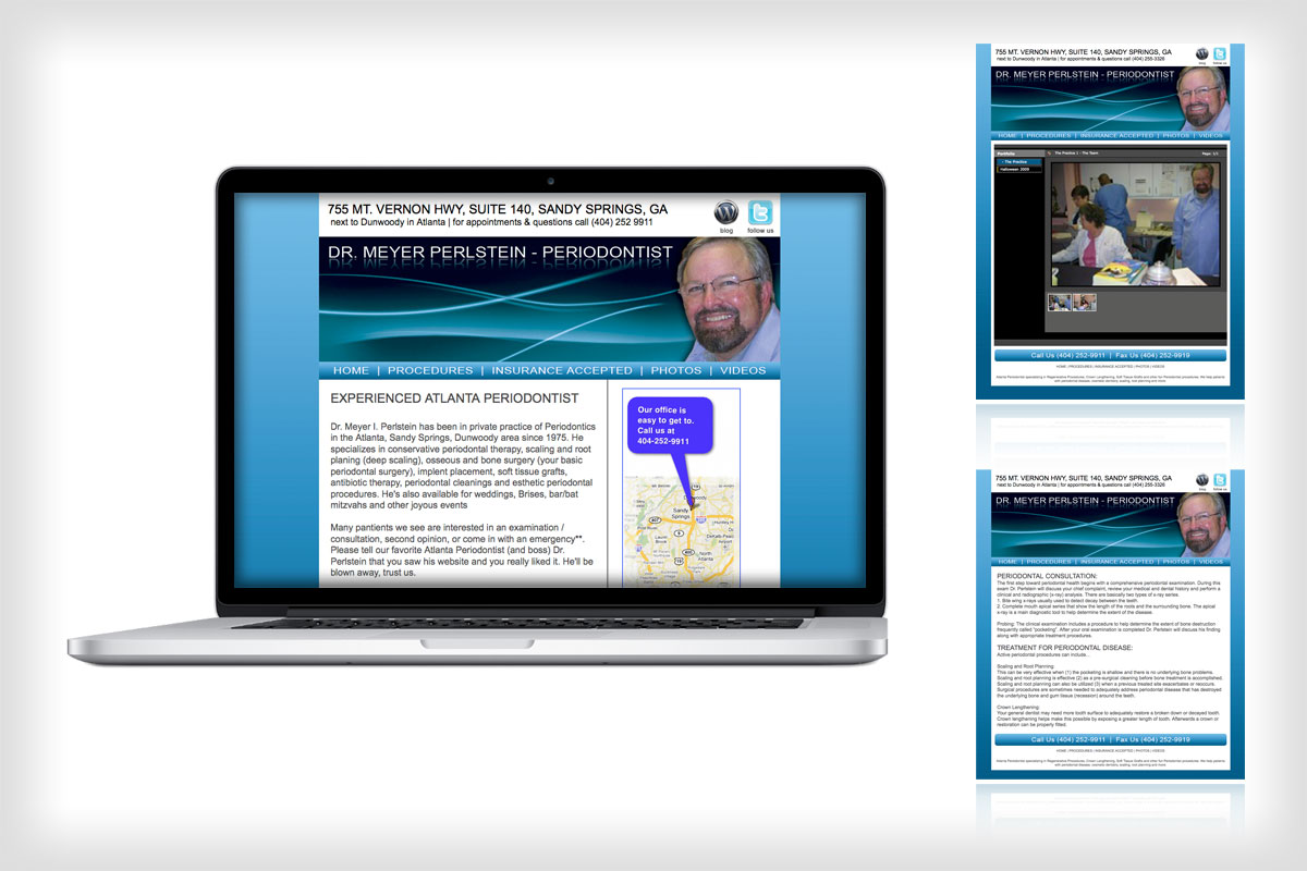 Dr. Perlstein Website Design