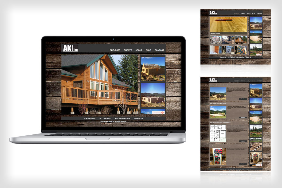 AK Builders Website Redesign