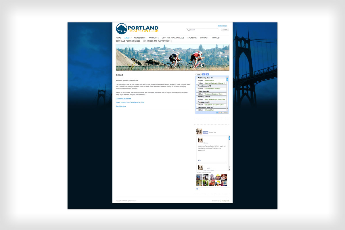 Portland Triathlon Club Website