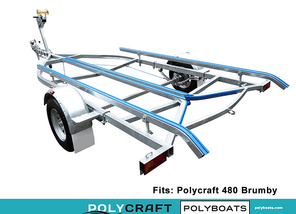 2021 Galvanized Trailer for Polycraft 480 Brumby