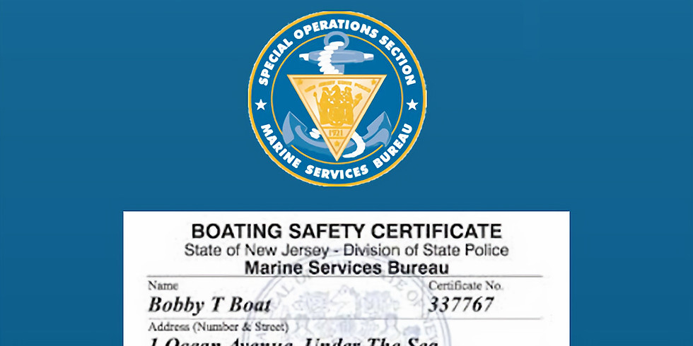 NJ Boater Safety 7/7 & 7/8