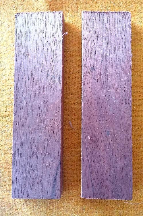 Reclaimed Teak wood scales (unstabilised)