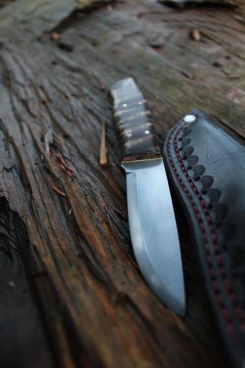 Tiger Maple Bushcraft Knife