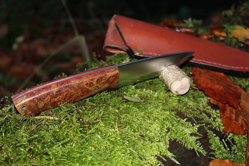 Blood Burl Bushcraft Knife