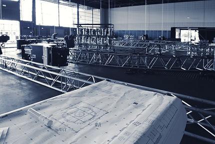 Veranstaltungstechnik Aufbau Traversen CAD Plan Lichttechnik