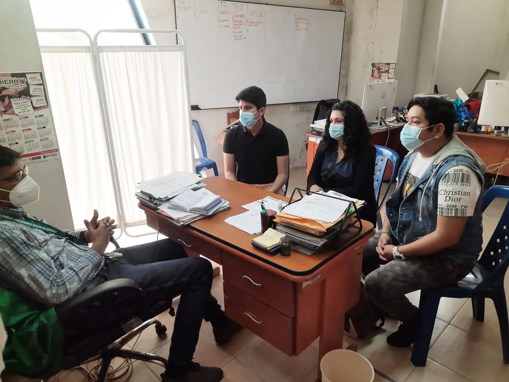Gerente de Desarrollo Social de Municipalidad Provincial de Maynas, Iquitos en reunión con Más Igualdad