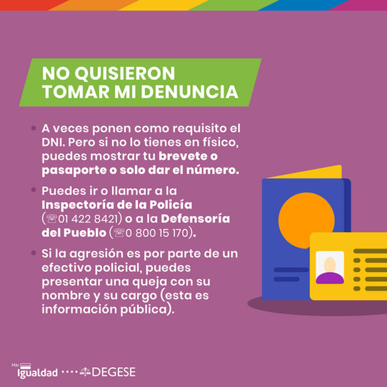 Manual de Denuncia LGBTI -  Más Igualdad Perú