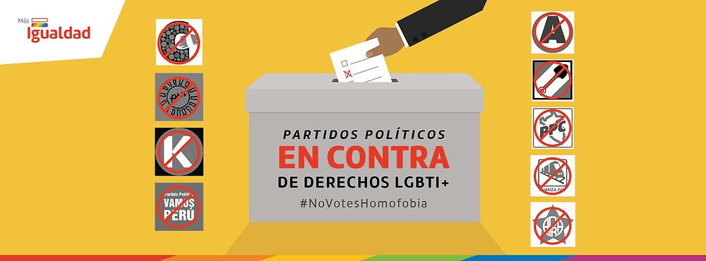 Partidos políticos en contra - Más Igualdad Perú - ONG derechos - LGBTI