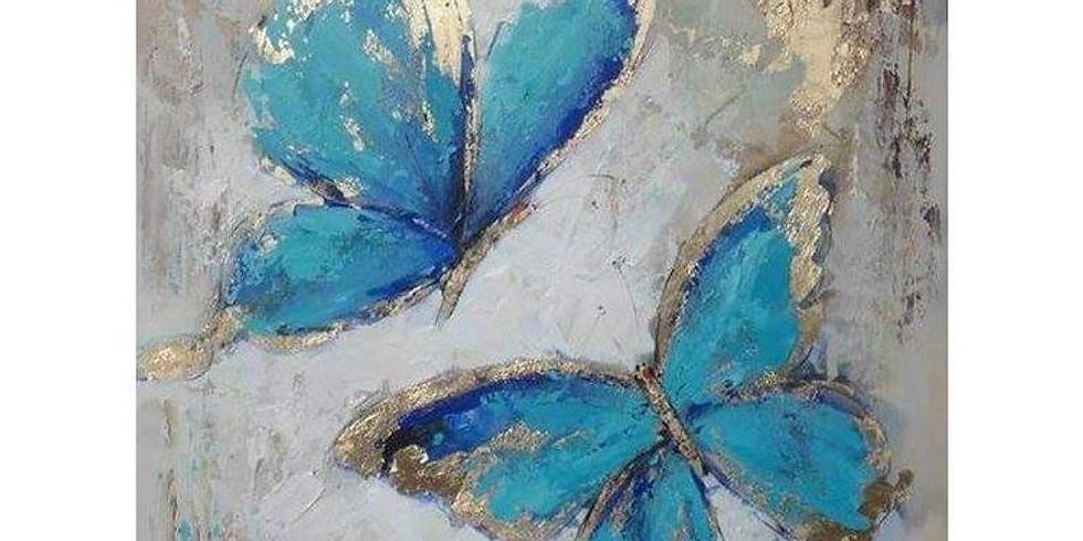 Мастер-класс «Бабочки с золотой поталью»