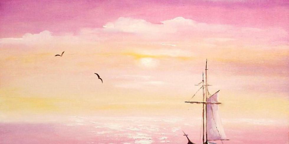"""Мастер-класс """"Кораблик в море"""" для детей и взрослых"""