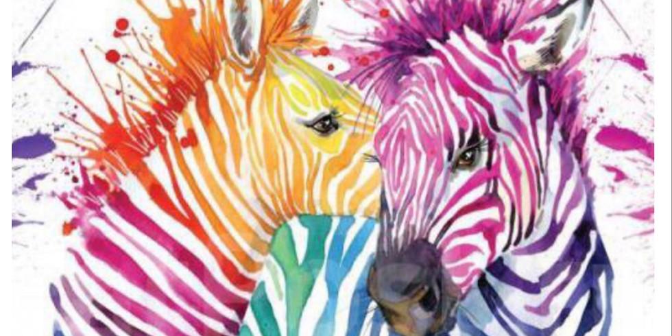 """Мастер-класс """"Цветные зебры"""" для взрослых и детей"""