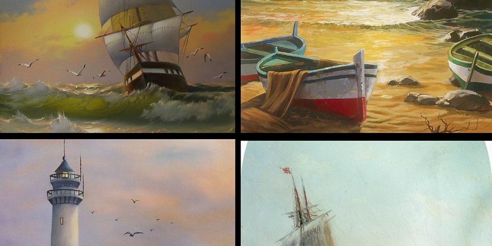Мастер-класс по живописи «по мотивам Айвазовского»