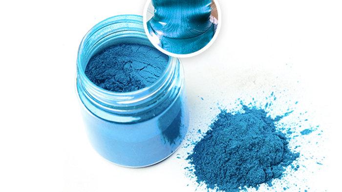 Металлический пигмент для эпоксидной смолы, Голубой