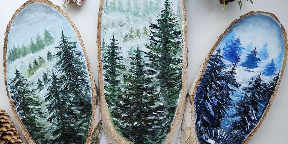 Рисуем на спилах дерева - собираем желающих
