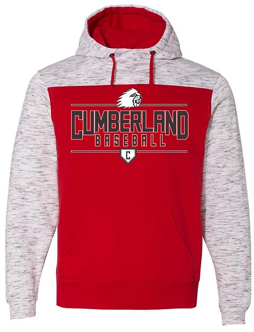 Cumberland Baseball Fleck Hoodie