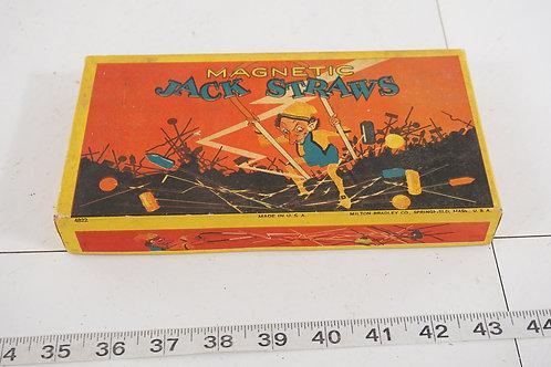 4822 Magnetic Jack Straws Game By Milton Bradley Co - Ca 1920s