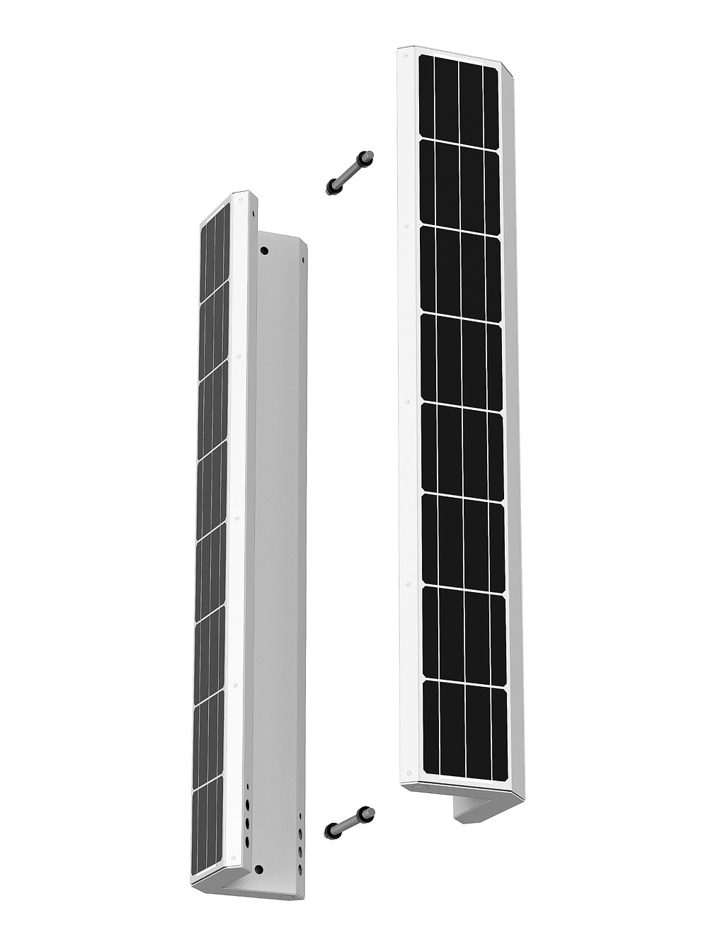vertical solar streetlight