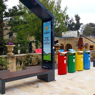Smart Solar Bench Malta Eco Park