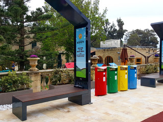 EnGoPlanet Smart Solar benches at EcoPark in Malta
