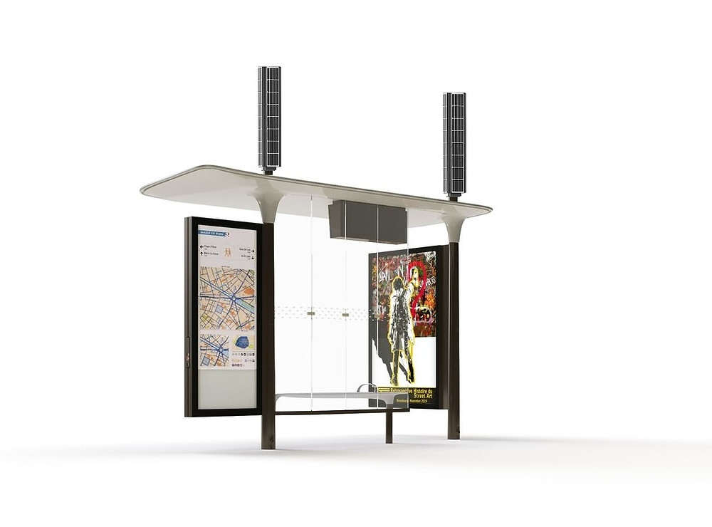 smart solar bus stop station