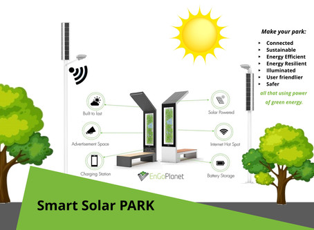 Smart Park Design with Solar Benches and Solar streetlights