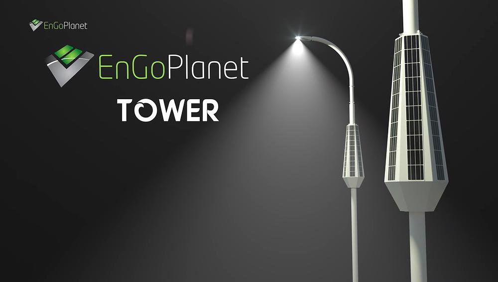 solar powered street light pole