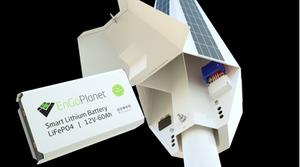 smart solar street light pole