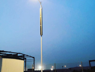 Smart City and Vertical Solar powered streetlighting poles