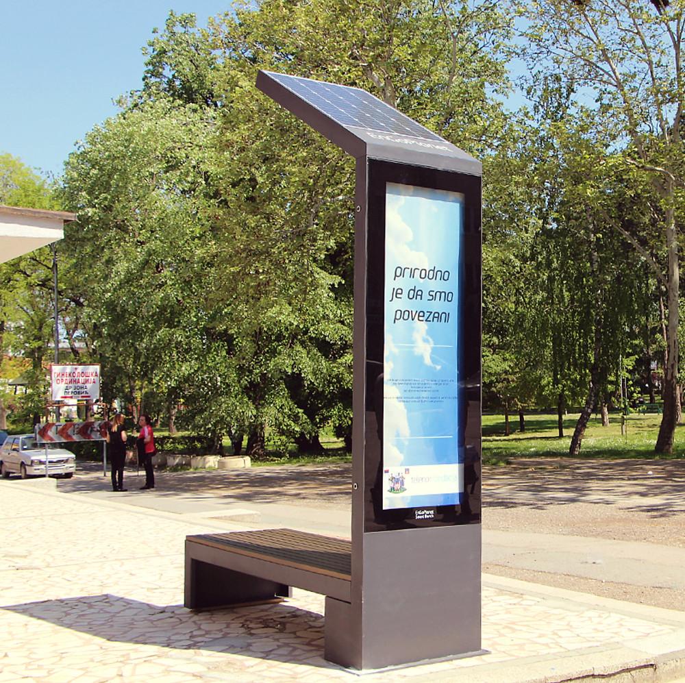 smart bench solar powered