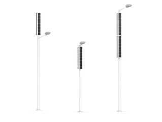 Vertical Solar powered streetlights for Puerto Rico