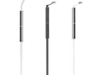 Vertical Solar powered streetlights