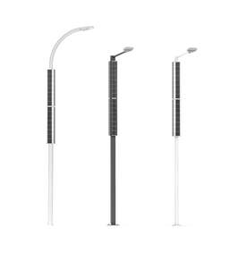 vertical solar streetlights