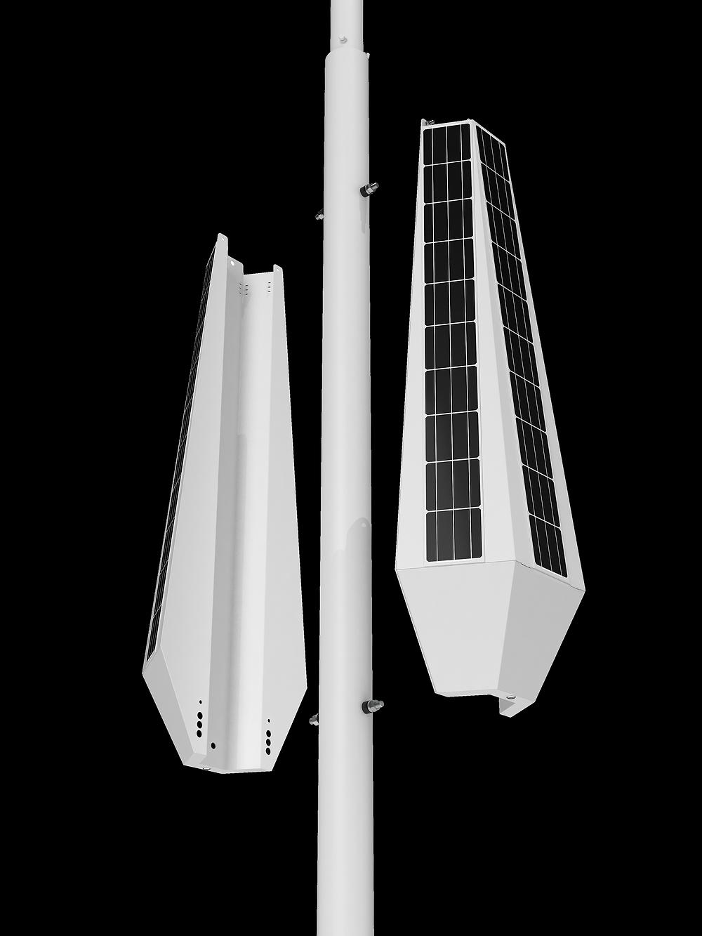 smart solar street light retrofit pole