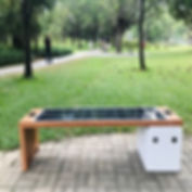 Smart solar powered bench