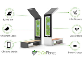 New urban design:Smart Solar Benches