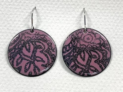 Enamel Stamp Earrings