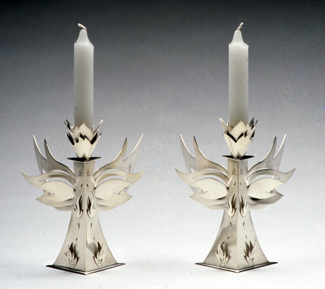 Seraphim Shabbat Candle Holders