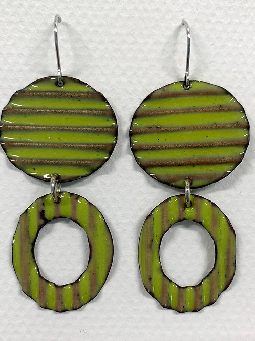 Corrugated Drop Earrings