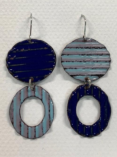 Corrugated Drop Earrings