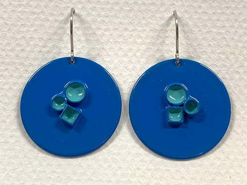 Tube Disc Earrings