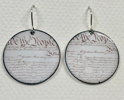 """""""Constitutional Crisis"""" Earrings"""