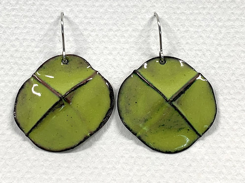 Enamel Fold Earrings