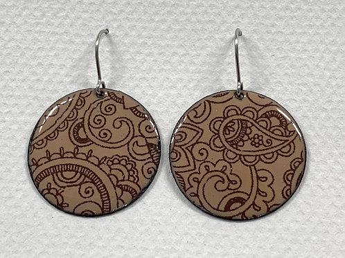 Enamel Decal Earrings